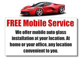 Free Mobile Auto Glass Services
